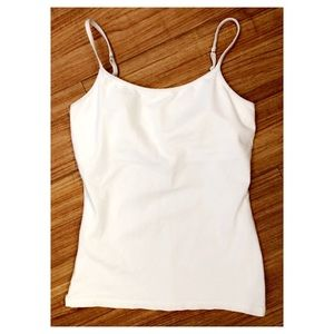 Express white camisole with built in bra, size M